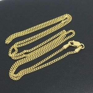 """14K Yellow Gold Thin Curb Link Chain ~1.60mm 20"""""""